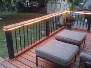 Rope Lights Outdoor Deck : Deck Improvements But... Will There Be Cake?