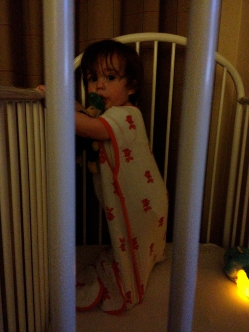 Rockin' Friday night in the hotel room. Little jailbird.