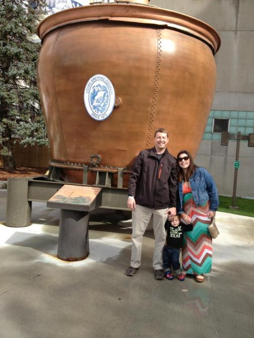 Family photo at Coors Brewery