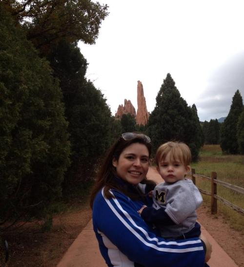 Mommy and D at Garden of the Gods