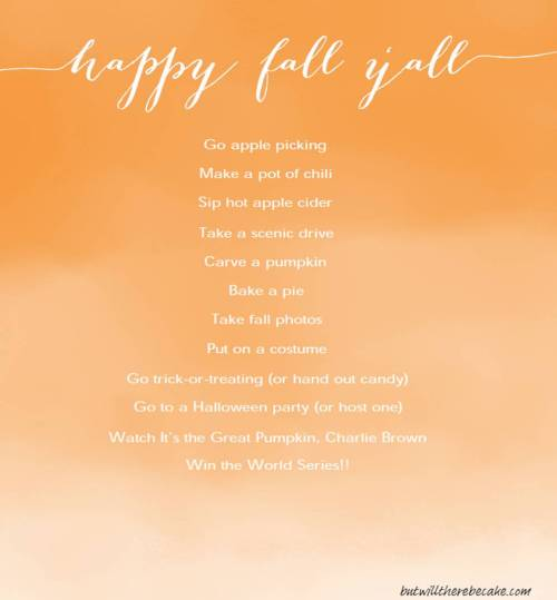 Fall Fun List 1
